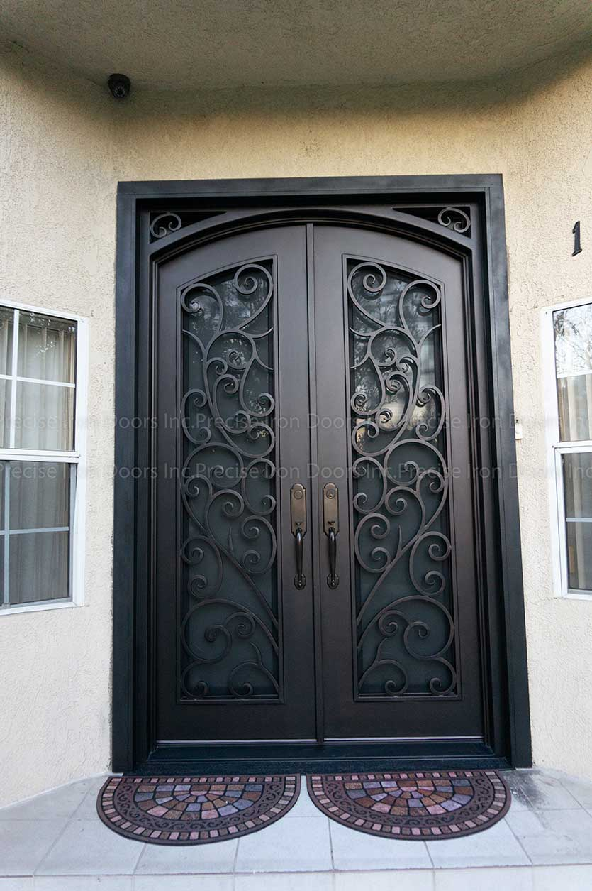 Square Top With Ornate Eyebrow Top Iron Doors