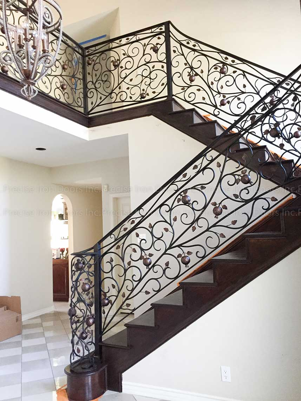 Decorative Custom Wrought Iron Railing