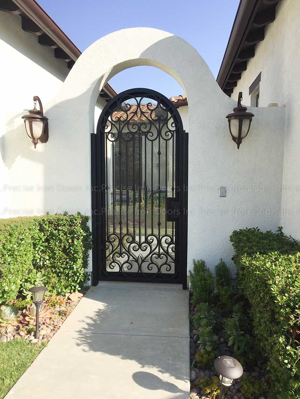 Custom Round Top Wrought Iron Gate