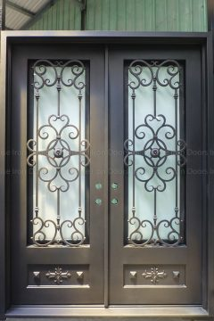 Amber Double Entry Iron Doors