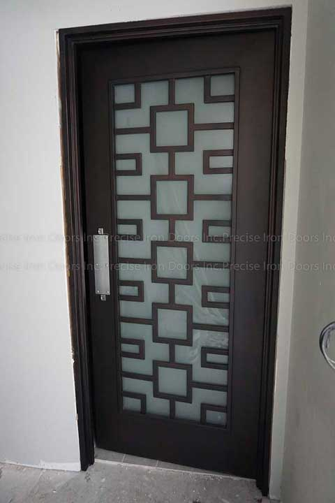 Squares Single Entry Iron Door