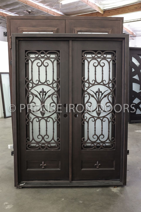 Athena Double Entry Iron Doors