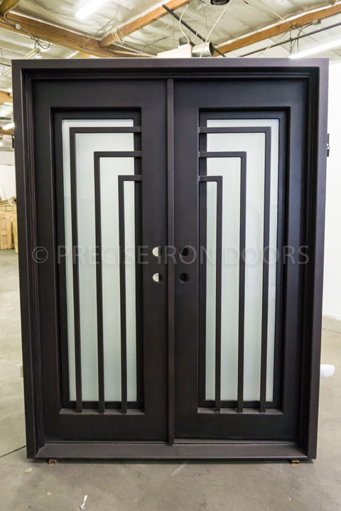 Belfort Double Entry Iron Doors