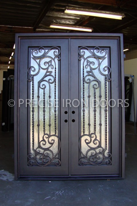 Decorative Wrought Iron Double Entry Doors