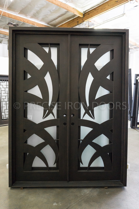 Hawaiian Double Entry Iron Doors