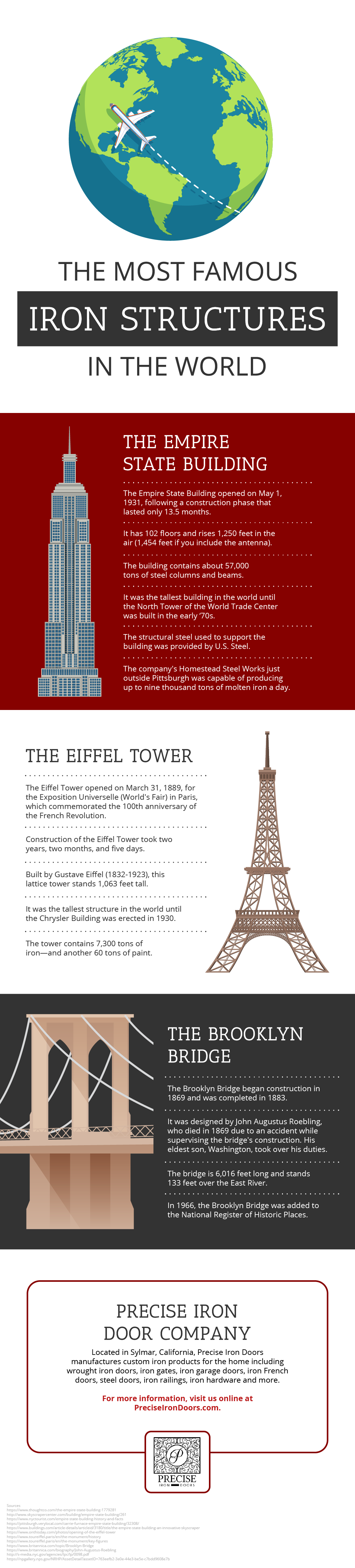 Most Famous Iron Structures in the World Infographic