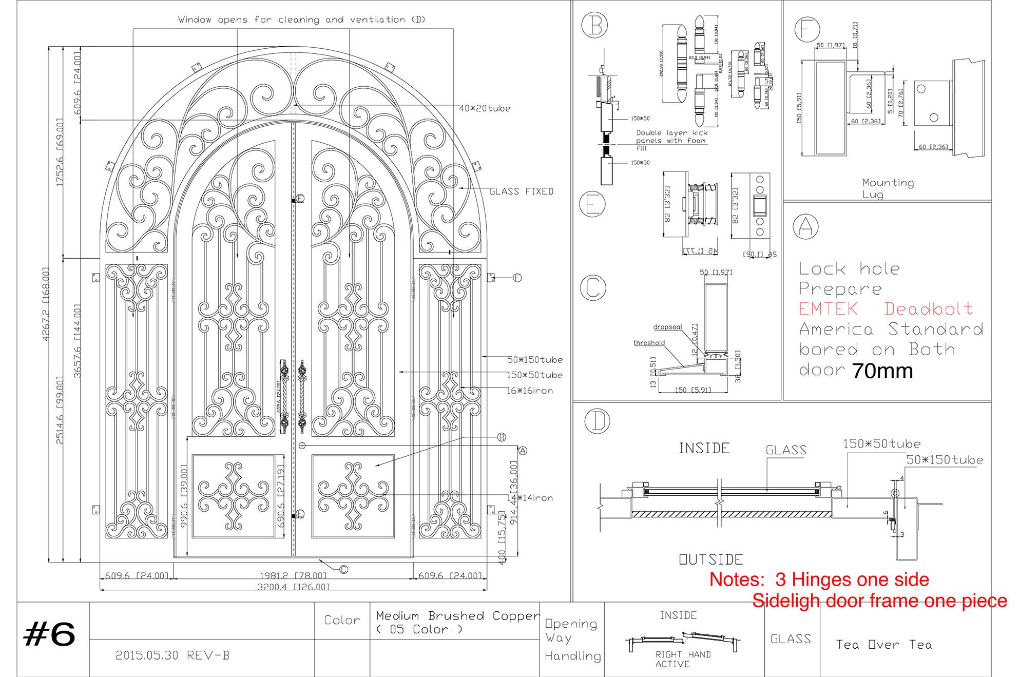 Custom Iron Door Design