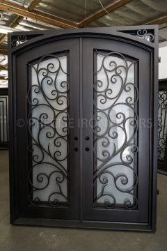 Milan Double Entry Iron Doors 72 x 96 (Left Hand)