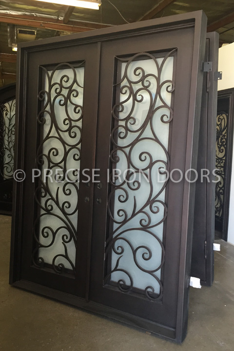 Milan Double Entry Iron Doors 72 x 96 (Left Hand)