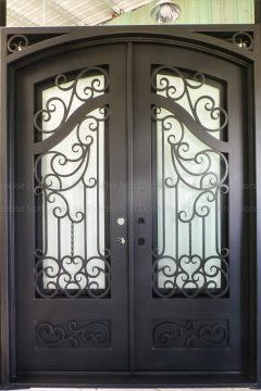 Munic Double Entry Iron Doors 72 x 96 (Left Hand)