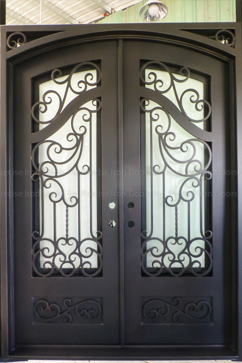 Munic Double Entry Iron Doors 72 x 96 (Left Hand)