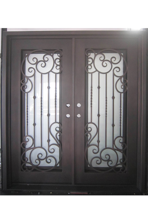 Vermont Double Entry Iron Doors 61 x 81 (Right Hand)