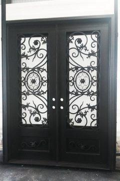 Vermont Double Entry Iron Doors 72 x 96 (Left Hand)