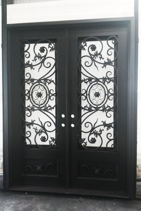 Vermont Double Entry Iron Doors 72 x 96 (Left Hand)