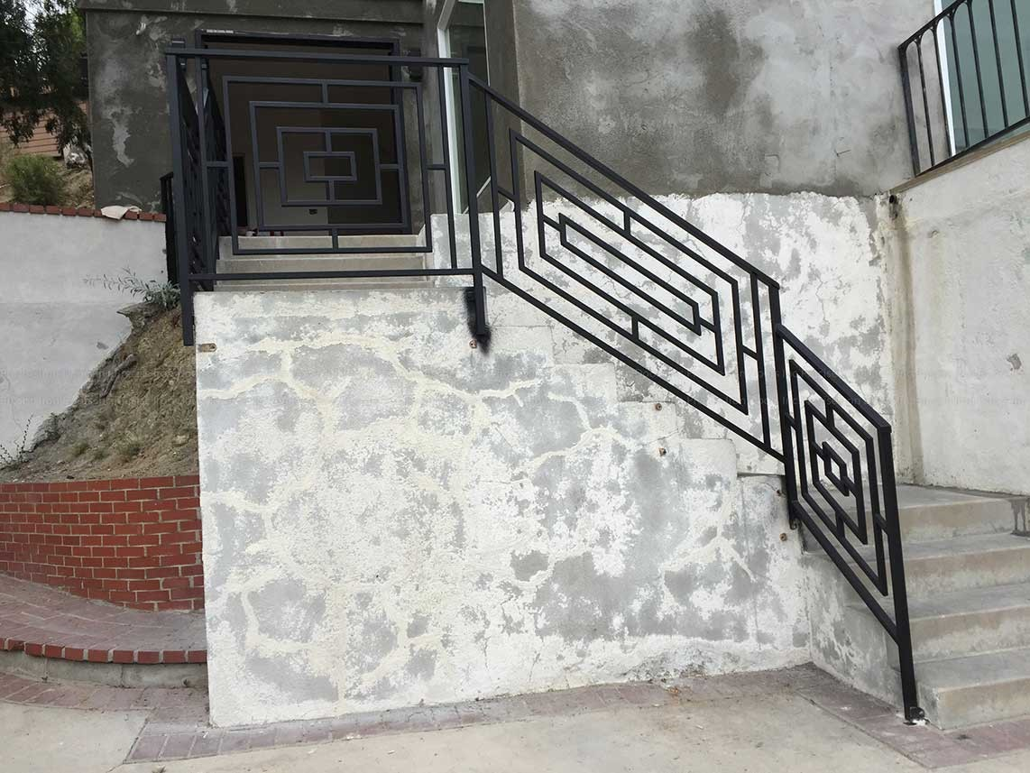 Outside Iron Staircase Railing