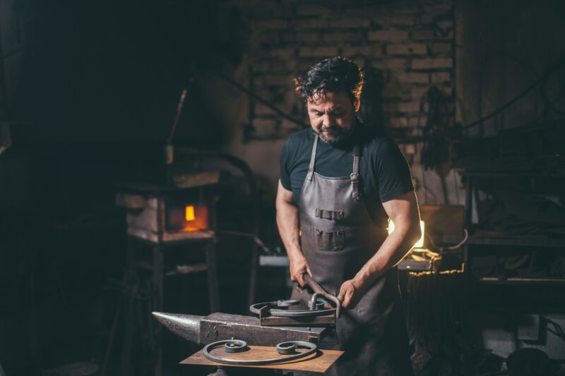 Forge, blacksmith's work