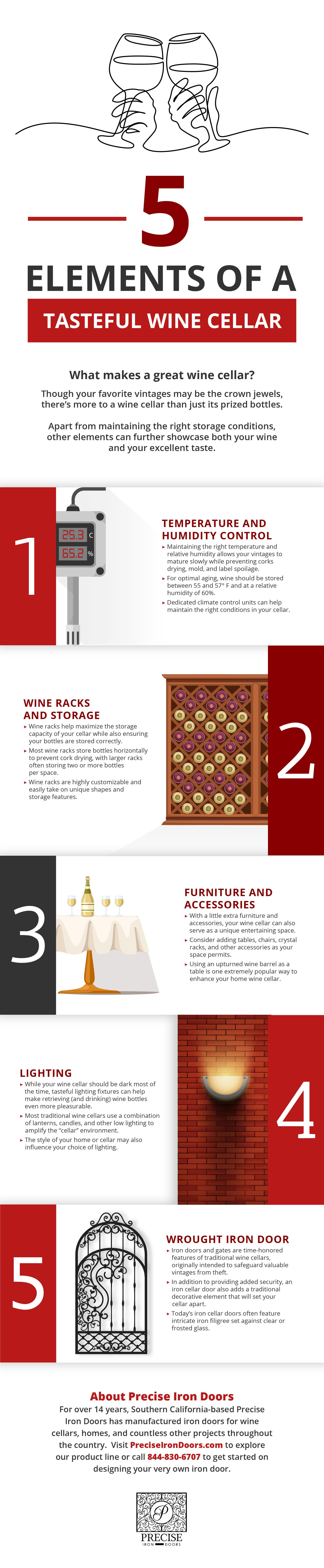 Tasteful Wine Cellar Infographic