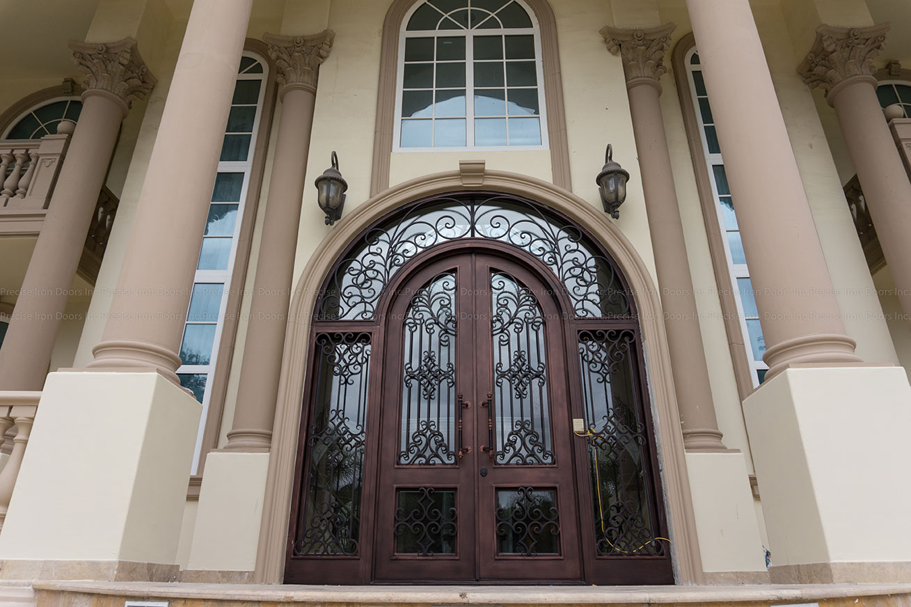 Ornate Wrought Iron Front Entry Doors