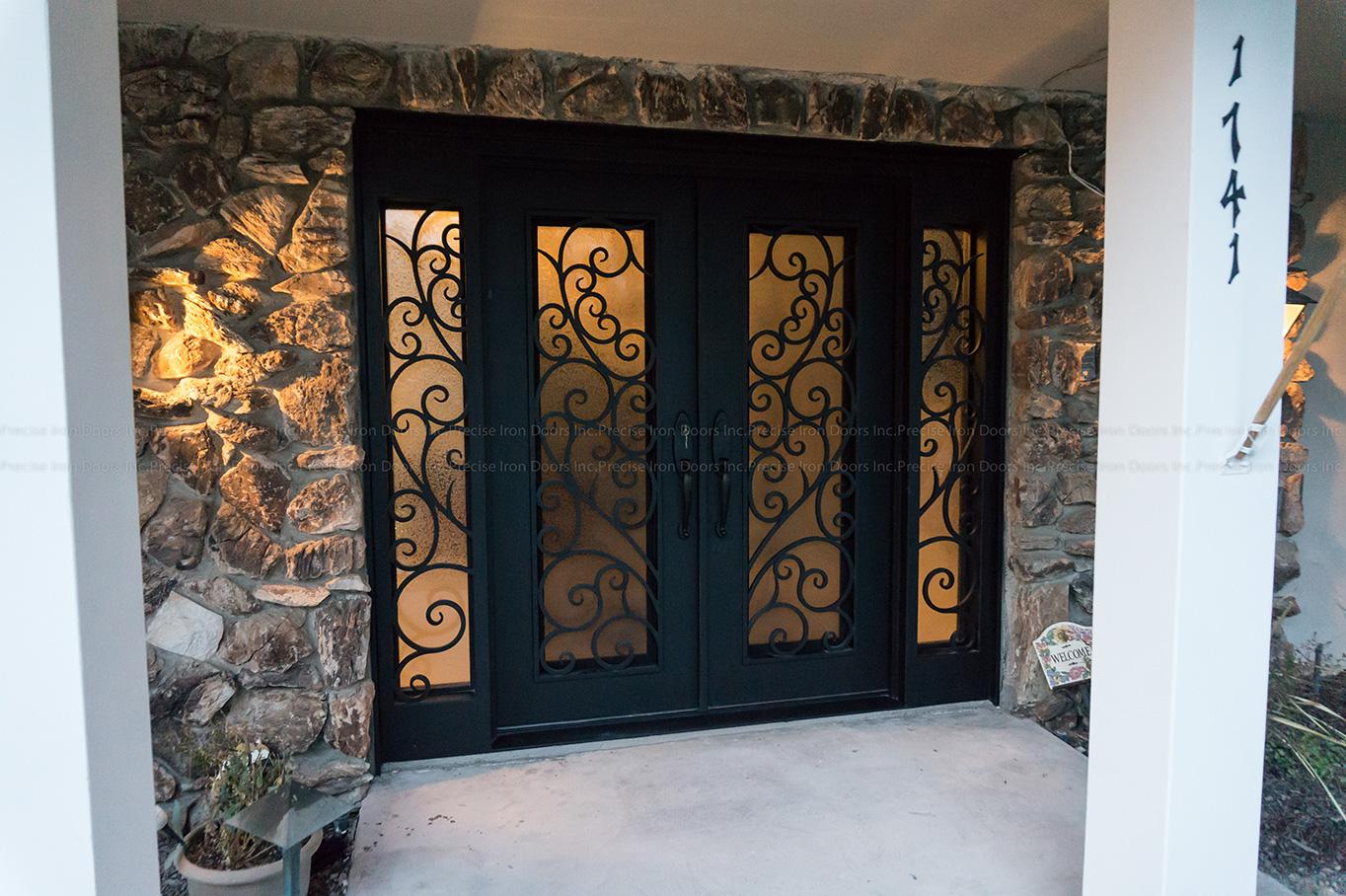 Valencia Scroll Double Entry Iron Doors